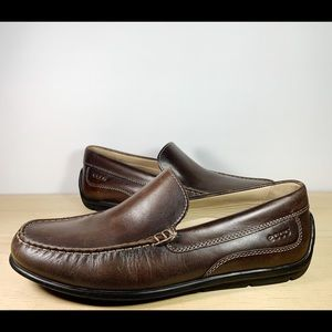 Brown Leather Slip Ons Mocs Loafers